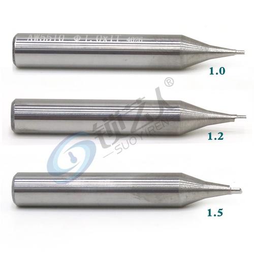 钨钢-立铣刀-1.0青虹刀 φ1.0xφ6x40x1F 单刃 钨钢立铣刀 钥匙机铣刀 RAISE